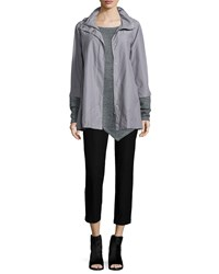 Eileen Fisher Ako Hooded A Line Jacket Petite Silver