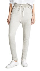 James Perse Rib Waist Legging Sweatpants Heather Oatmeal