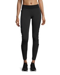 Blanc Noir Desire Mesh Arrow Performance Leggings Black
