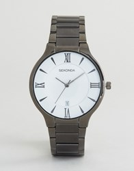 Sekonda Black Bracelet Watch With White Dial Exclusive To Asos Black