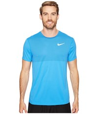 Nike Zonal Cooling Relay Short Sleeve Running Top Light Photo Blue Men's Clothing