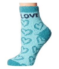Life Is Good Snuggle Crew Heart Socks Fresh Blue Women's Crew Cut Socks Shoes