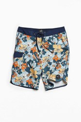 Vans Mixed Scallop Floral Boardshort Blue