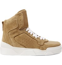 Givenchy Tyson Suede High Top Sneakers Brown