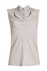 Rick Owens Draped Sleeveless Top With Silk Grey