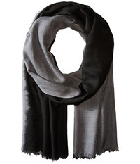 Love Quotes Travel Weight Cashmere Dip Dye Scarf Cement Black Scarves Bone