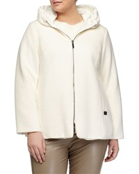 Marina Rinaldi Novella Reversible Hooded Coat Women's White