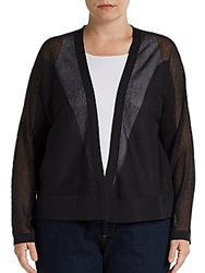 Joan Vass Sizes 14 24 Dolman Sleeve Cardigan Black