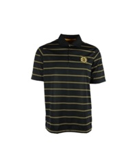 Antigua Men's Boston Bruins Deluxe Polo Shirt Black Gold White
