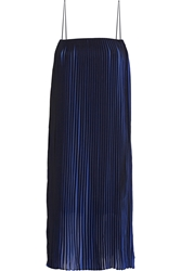 Dion Lee Two Tone Pleated Chiffon Midi Dress