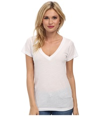 Lna S S Deep V White Women's T Shirt
