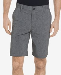 G.H. Bass And Co. Men's Cliff Peak Classic Fit Stretch Performance Heather Hybrid Shorts Black