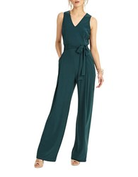 Phase Eight Oralie Solid Belted Jumpsuit Pine