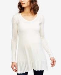 A Pea In The Pod Maternity Pointelle Sweater Egret