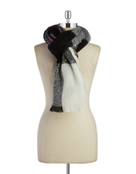 Lauren Ralph Lauren Oversized Knit Scarf Black