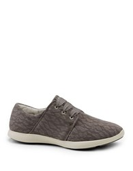 G.H. Bass Skyler Mesh Lace Up Sneakers Taupe