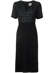 Jason Wu Check Detail Mid Length Dress Black