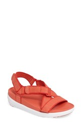 Fitflop Women's Tm Sling Ii Sport Sandal Hot Coral Fabric