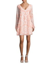 Bcbgeneration Printed Shift Dress Petal Pink