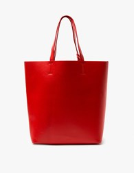 Double Pocket Tote In Red