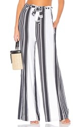 Chaser Cool Jersey Paperbag Waist Pant White