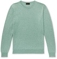 Altea Cotton And Cashmere Blend Sweater Green