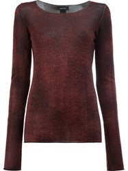 Avant Toi Washed Effect Jumper Red
