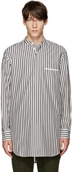 3.1 Phillip Lim Grey And White Pyjama Shirt