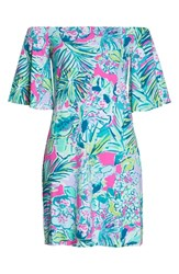 Lilly Pulitzer Fawcett Off The Shoulder Dress Multi Early Bloomer