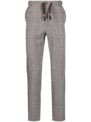 Daniele Alessandrini Checked Trousers Grey