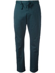 N 21 No21 Frayed Laterals Straight Trousers Blue