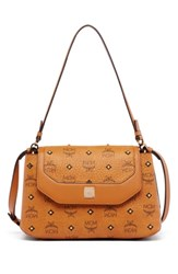 Mcm 'Small Visetos' Coated Canvas Satchel