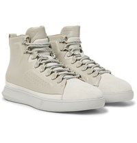 Under Armour Sportswear Club Mid Suede And Leather Sneakers Light Gray