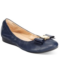 Cole Haan Tali Bow Ballet Flats Women's Shoes Blazer Blue