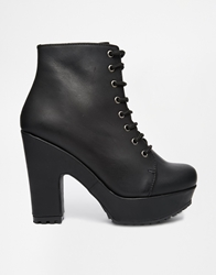 Gardenia Leather Lace Up Heeled Boots
