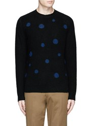 Paul Smith Polka Dot Intarsia Wool Sweater Black