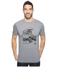 The North Face Short Sleeve Off Road Tri Blend Tee Tnf Medium Grey Heather Men's T Shirt Gray