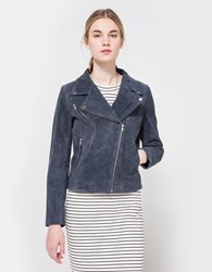Just Female Came Suede Jacket Smoke Blue