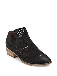 Seychelles Perforated Leather Booties Black
