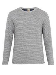 Faherty Reversible Heather Cotton Blend Jersey T Shirt Grey