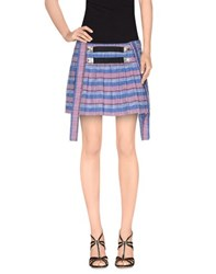 Chloe Sevigny For Opening Ceremony Skirts Mini Skirts Women Blue