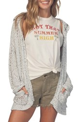 Rip Curl Swing By Hooded Cardigan White