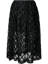 Simone Rocha Embroidered Semi Sheer Skirt Black