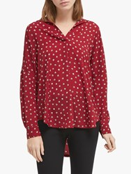 French Connection Adelise Shirt Rosso Red Multi