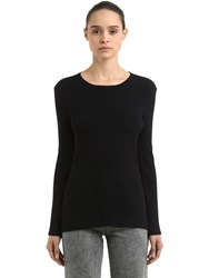 Coliac Ariete Rib Knit Sweater W Snap Buttons Black