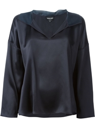 Giorgio Armani V Neck Top Blue