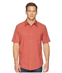 Marmot Windshear Short Sleeve Auburn Short Sleeve Button Up Mahogany