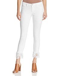 Blank Nyc Blanknyc Frayed Hem Crop Jeans In White