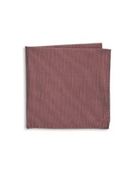 Armani Collezioni Dark Hued Silk Pocket Square Solid Dark