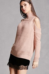 Forever 21 Chunky Open Shoulder Sweater